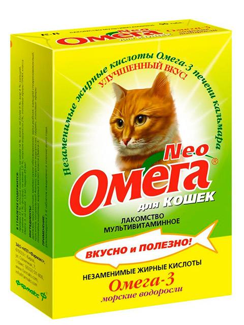ОМЕГА NEO+ К-З Мультивитаминное лакомство для кошек с морскими водорослями ( крепкое здоровье) 90 таб.