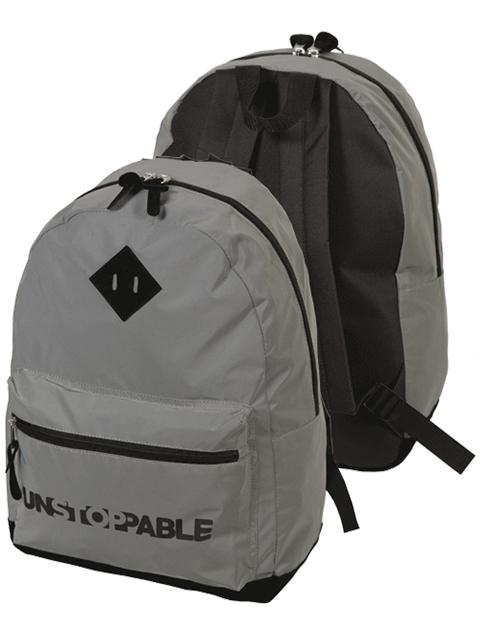 """Рюкзак подростковый deVENTE """"Unstoppable Reflecting"""" 40х30х14 см, 1 отделение, текстиль, светоотражающий, серый"""