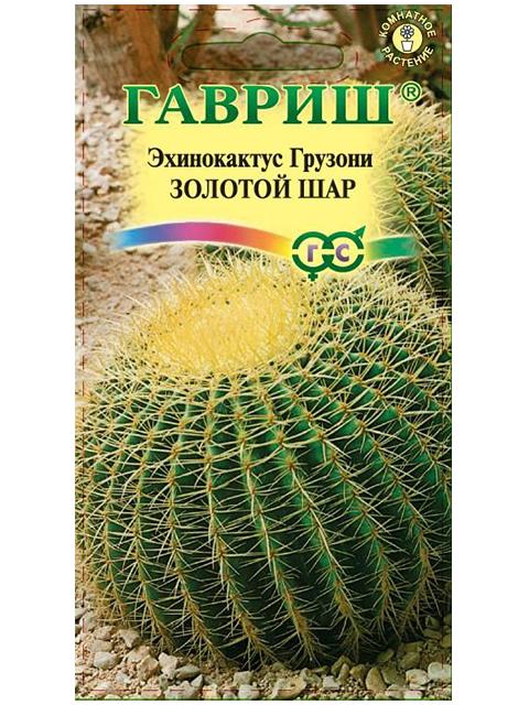 Эхинокактус Грузони Золотой шар 5шт. Н20, ц/п