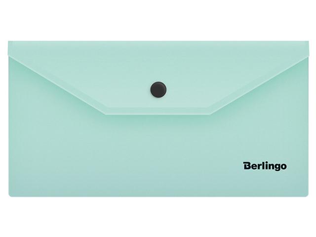 """Папка-конверт на кнопке С6 Berlingo """"Instinct"""" 180мкм., мятный"""