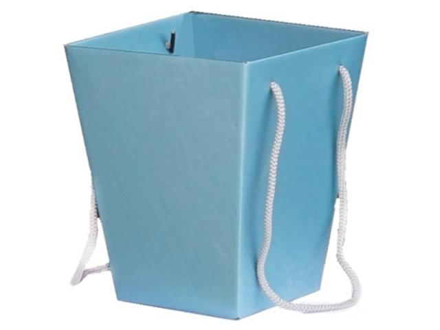 """Коробка для цветов Яркий Мир """"Премиум"""" 118х154х125 мм, сине-голубой"""