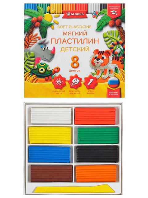 """Пластилин Globus """"Классический"""" 8 цветов, 120 г"""