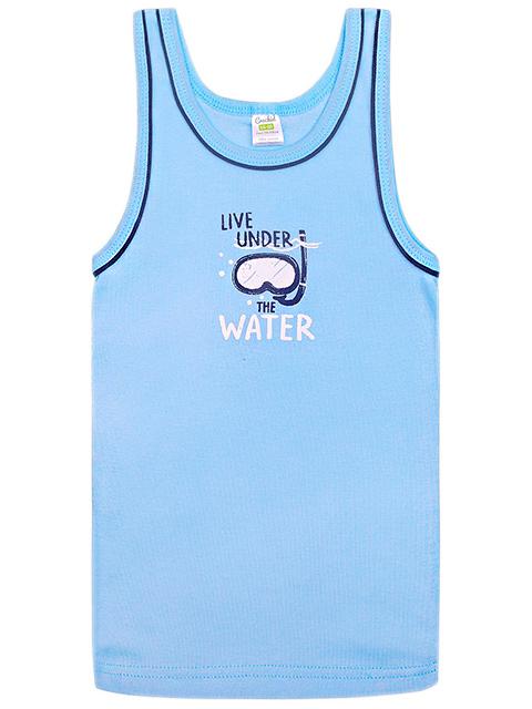 """Майка для мальчика """"Морская глубина"""" голубой, размер/рост : 52/92"""