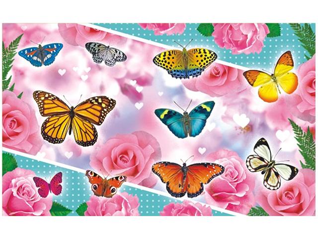 "Наклейки ""Бабочки"" 10 штук на листе 10х16 см, с блестками"