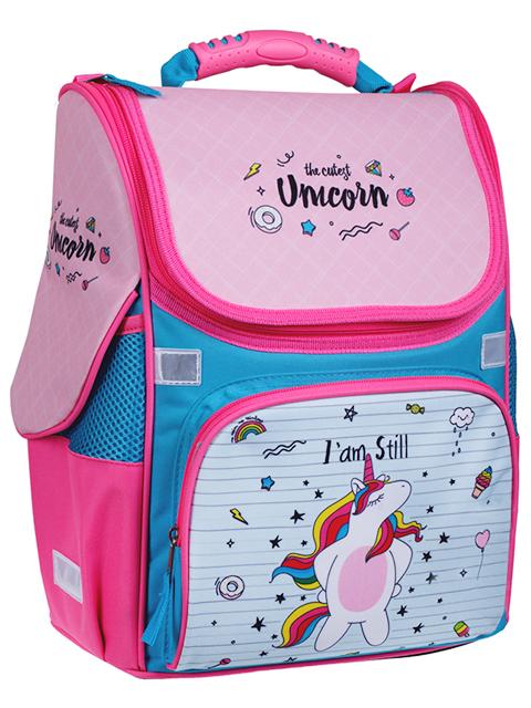 """Ранец школьный ArTSpace """"Junior. Unicorn"""" 37х28х21 см, эргономичная спинка"""