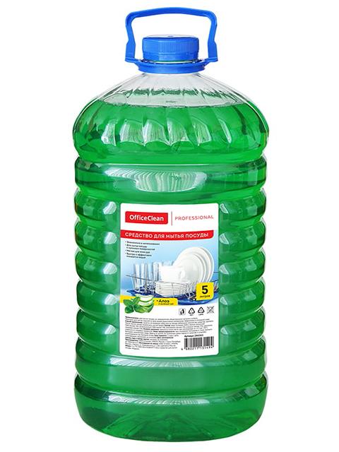 """Средство для мытья посуды OfficeClean """"Professional Алоэ и зеленый чай"""", 5 литр"""