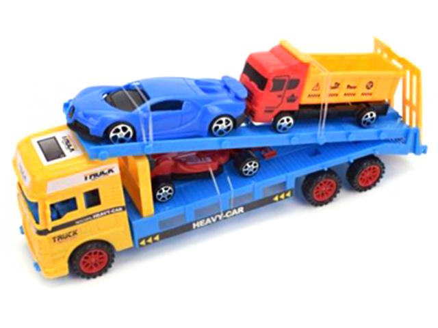"Игрушка ""Машина. Автовоз с машинками"" 3 машинки в наборе, пластик"
