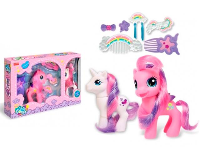 """Игровой набор """"Ляля-Пони-5"""" с аксессуарами, в коробке"""