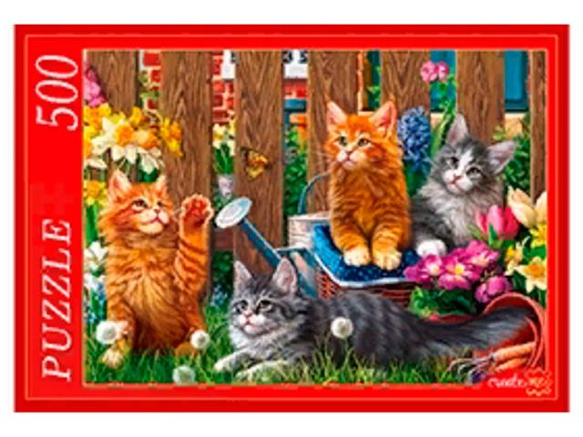 """Пазлы 500 элементов 480х340 Рыжий кот """"Котята Мейн-куна"""""""