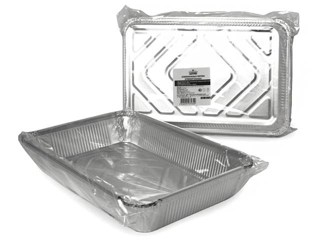 """Форма из алюминия """"Горница"""" прямоугольная для приготовления и хранения пищи, 31,3х21,3см, 3шт в упак."""