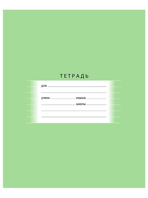 """Тетрадь А5 18 листов, линия БиДжи """"Школьная (ассорти)"""" обложка однотонная"""