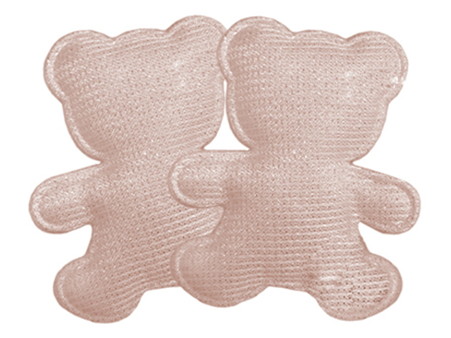 """Декоративное украшение для творчества """"Розовые мишки"""" 5,7х0,2х4,7см, 2 штуки в наборе"""