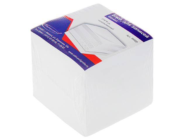 Блок для записей непроклеенный Канцлер, 90х90х90мм 55г/м2, белый