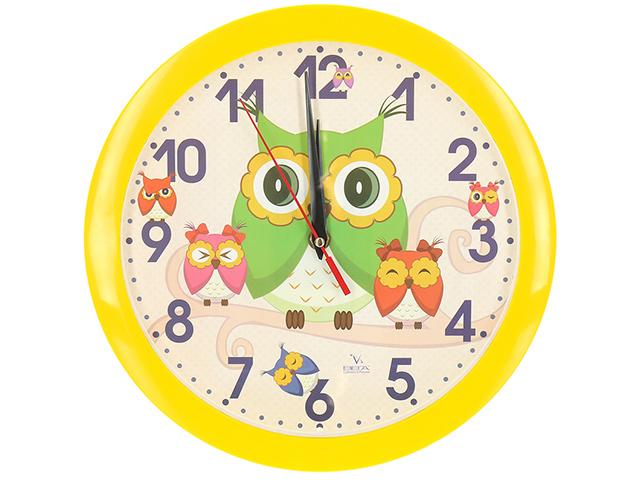 Часы настенные пластиковые П1-2/7-207 Совы