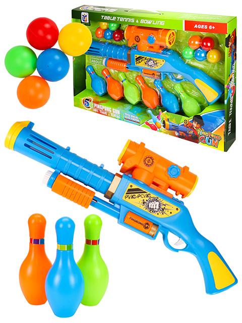 """Набор """"Азартная игра"""" (1 пистолет, 6 кеглей, 10 шариков, в коробке)"""