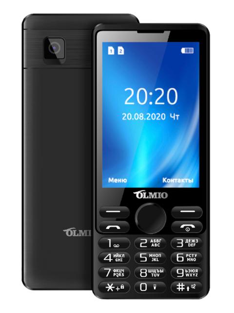 Мобильный телефон OLMIO E35 (черный)