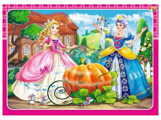 "Пазл-рамка 12 элементов 150х210 Рыжий кот ""Принцесса Золушка"""