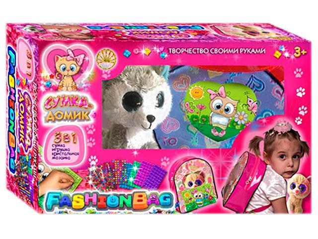Сумка-домик №2 Розовый с игрушкой