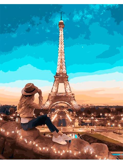 "Картина по номерам ""PaintBoy. Вид на Париж"" 40*50см"