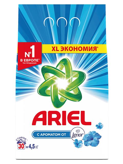 ARIEL СМС Порошок-автомат Аромат воздушная свежесть Lenor 4,5кг