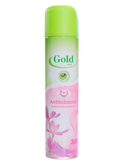 """Освежитель воздуха Gold mint 2в1 """"Antitobacco"""", 300 мл"""