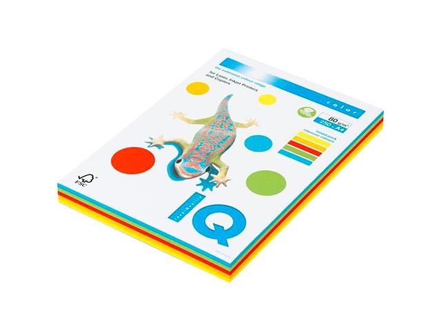 """Бумага IQ Color intensive А4 80 г/кв. м 250 листов """"МИКС"""" (5 цветов) интенсивные"""