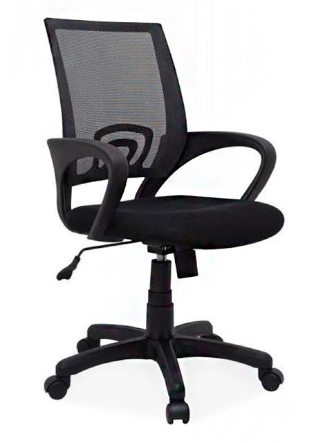 Кресло Формула, спинка сетка черная/сиденье B-14 (черная)