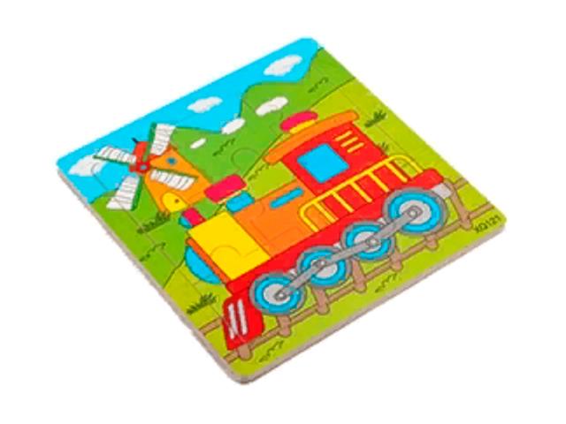 """Пазл- рамка для малышей """"Паровозик"""", 16 элементов. 15х15 см"""