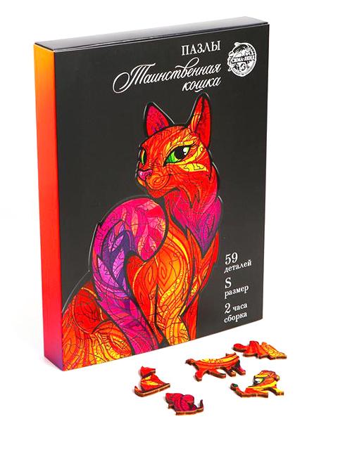 """Игрушка-пазл """"Таинственная кошка"""", 59 деталей"""