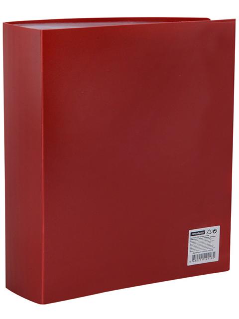 Папка OfficeSpace 100 вкладышей, 64 мм, 800 мкм, красная