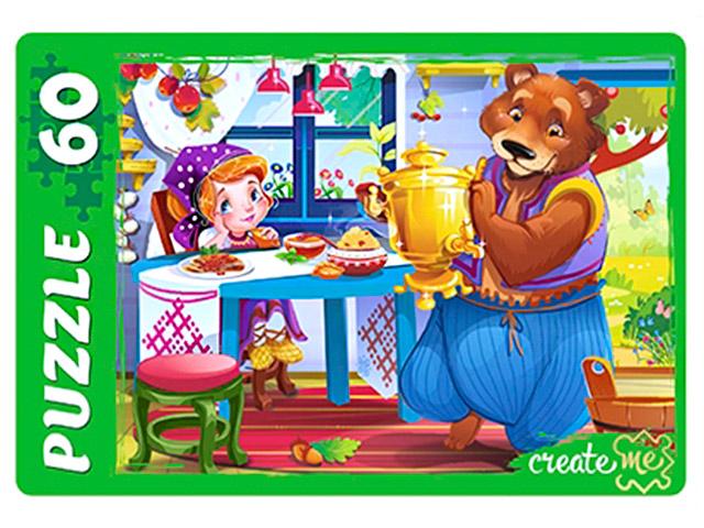 """Пазлы 60 элементов 330х237 Рыжий кот """"Маша и медведь"""""""