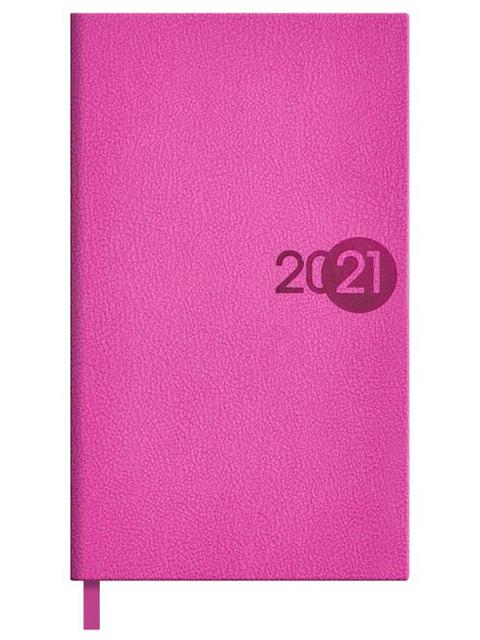 """Еженедельник датированный А6 64 листа Феникс+ """"Escalada 2021. Шарголин"""" розовый, твердый переплет"""