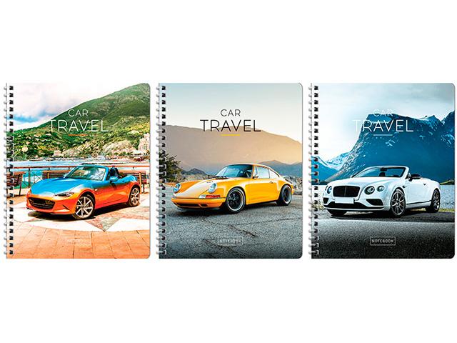 """Тетрадь А5 48 листов клетка ArtSpace """"Авто. Car Travel"""" гребень"""