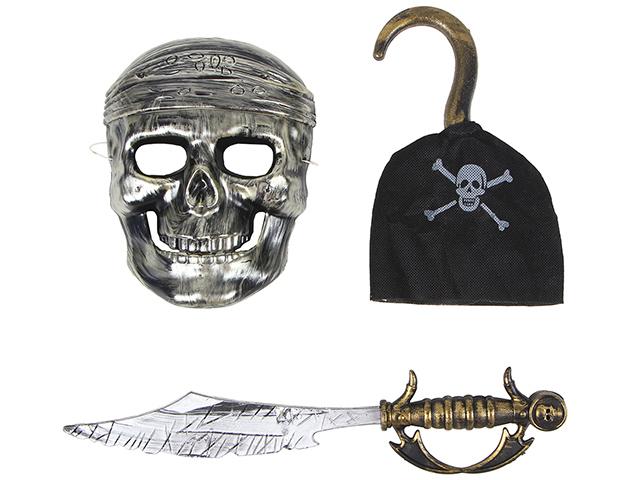 """Набор карнавальный """"Пират с крюком и маской"""" 53х19см, пластик"""