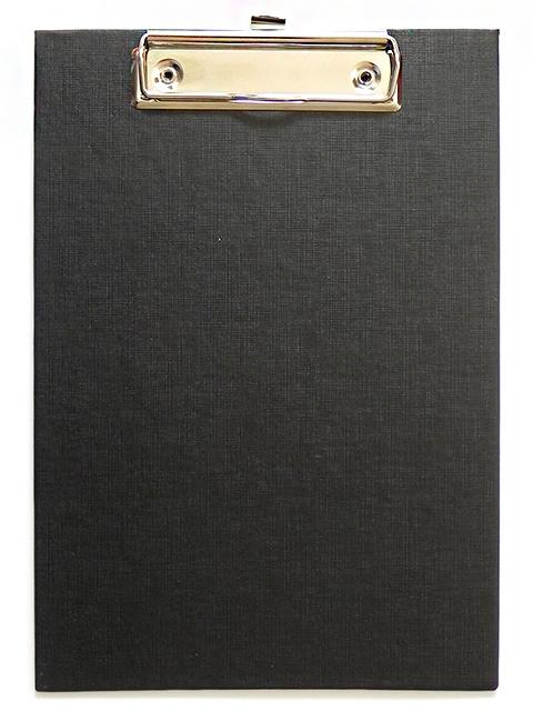 Планшет с зажимом А5 Канцбург, бумвинил, черный