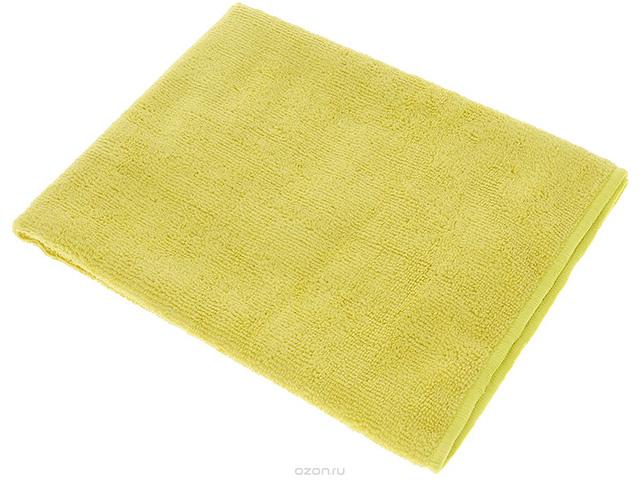 Салфетка из микрофибры 29х29см., желтая, 1шт. в упак.