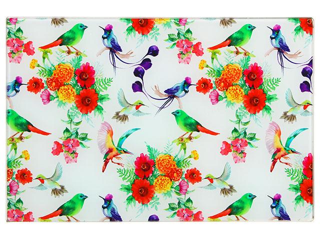 """Доска разделочная """"VETTA. Цветы"""" стеклянная 20х30х0,4см"""