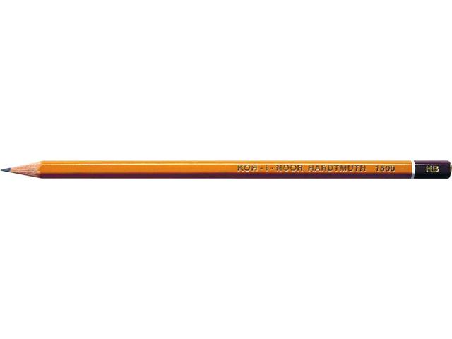 Карандаш чернографитный KOH-I-NOOR НВ, шестигранный, желтый, без ластика