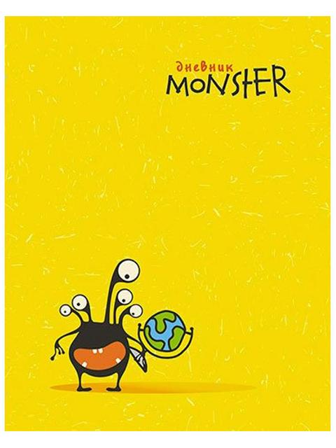 """Дневник универсальный Апплика """"Монстрик"""" твердая обложка, глянцевая ламинация"""