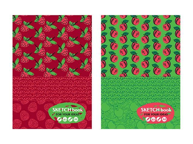 "Скетчбук А4 80 листов БиДжи ""Fresh sketch"" тверд.обл., мат.ламин., блок бежевый"