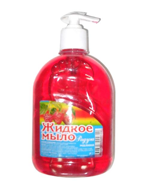 Мыло жидкое Радуга Малина, с дозатором, 500 мл