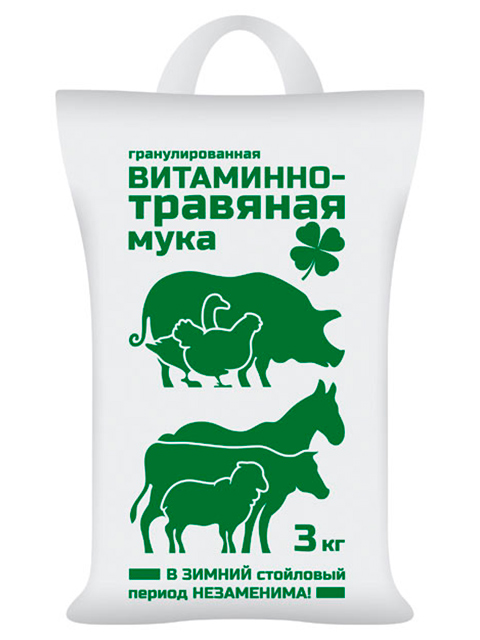 Витаминно-травяная мука (ВХ) 3 кг
