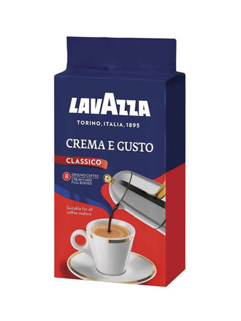 """Кофе молотый LAVAZZA """"Crema e Gusto"""", натуральный 250г, вакуумная упаковка"""