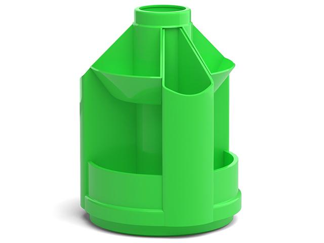 """Подставка настольная Erich Krause """"Mini Desk, Neon Solid"""" вращающаяся, зеленый"""