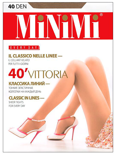 "Колготки женские MiNiMi ""Vittoria 40"" Daino 4-L"