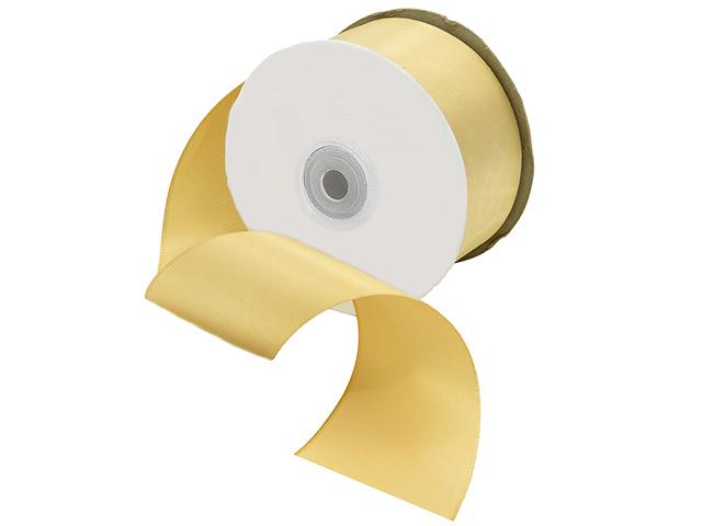 Лента атласная, декоративная 5,0х32,9м №8008 золотисто-бежевый (цена за 1м)