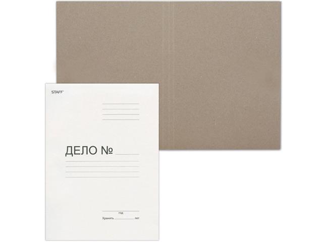 """Папка-обложка """"Дело"""" картонная, немелованая (без скоросшивателя) 360 г/м2"""