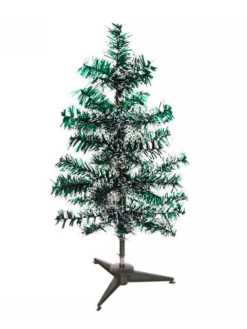 """Елка новогодняя """"Метелица"""" 40 см, зеленая/ белый иней, 40 веток, на подставке"""