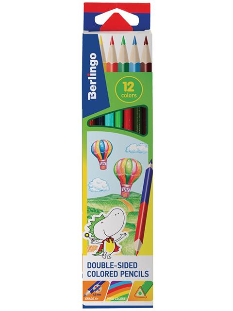 """Карандаши цветные Berlingo """"Воздушные шары"""" 12цв., 06шт., трехгр., заточ.,картон,европ."""