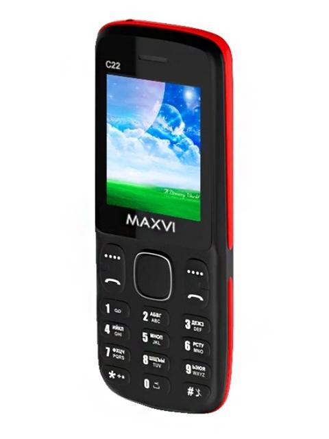 Мобильный телефон Maxvi С22 Black-Red